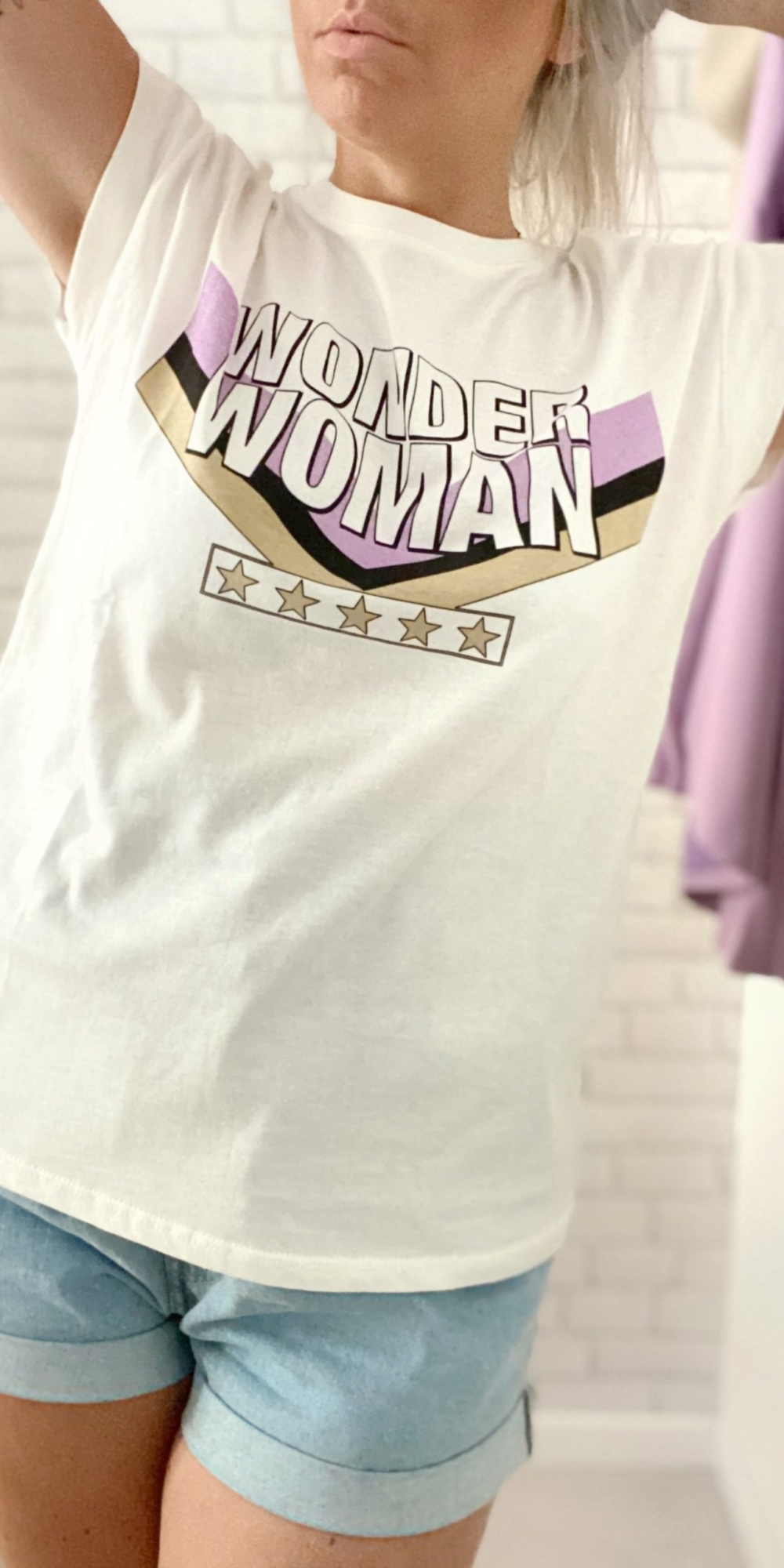 T-shirt WONDER Lilas
